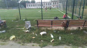 мусор, скамейка