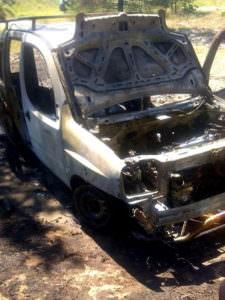 Автомобиль грибников выгорел дотла