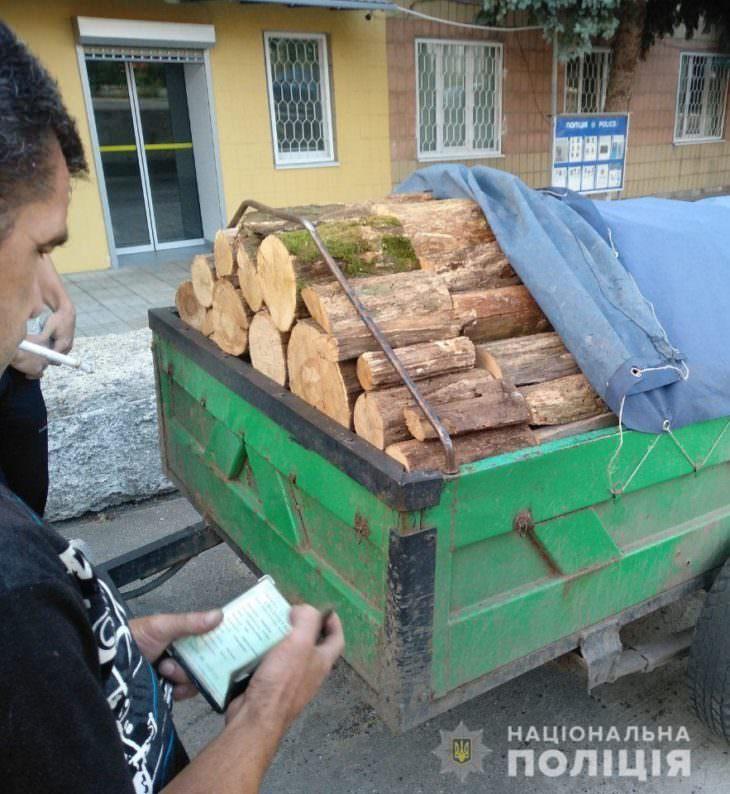 В Изюме задержали автомобиль с нелегальной древесиной ;)