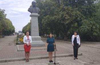 Сегодня состоялся торжественный митинг посвященный Дню Государственного Флага