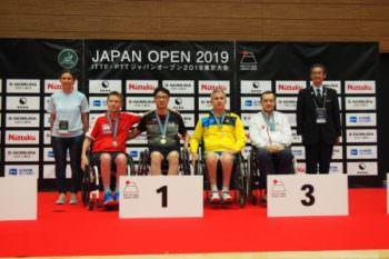 Изюмчанин - среди призеров турнира по пара-настольному теннису в Токио