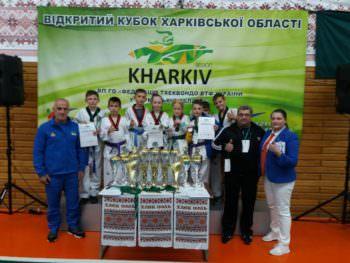 Изюмские тхэквондисты завоевали девять медалей в соревнованиях Харьковской области