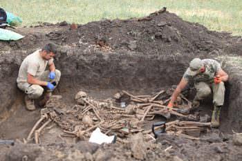 Недалеко от Барвенково найдены могилы воинов