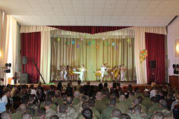 Изюмчане поздравили Защитников Украины