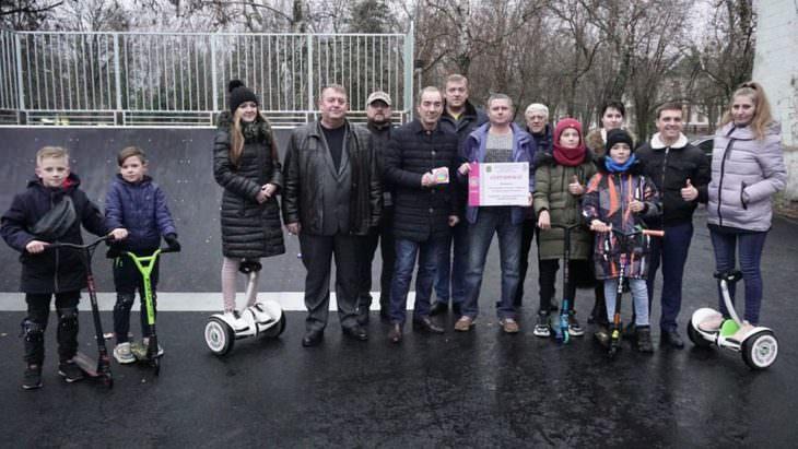 В городе открыли скейт-площадку для активного отдыха молодежи