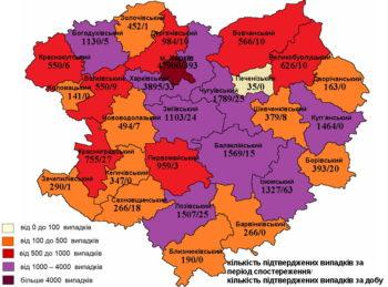 Изюмщина в лидерах по заболеванию на COVID-19 по Харьковской области