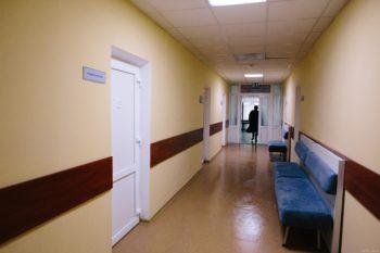 В Изюмской ЦГБ ремонтируют приемное отделение