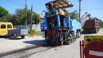 Начался ремонт дорожного покрытия по улице Киевской