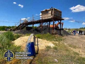 В Изюмском районе нашли незаконную угледобывающую шахту