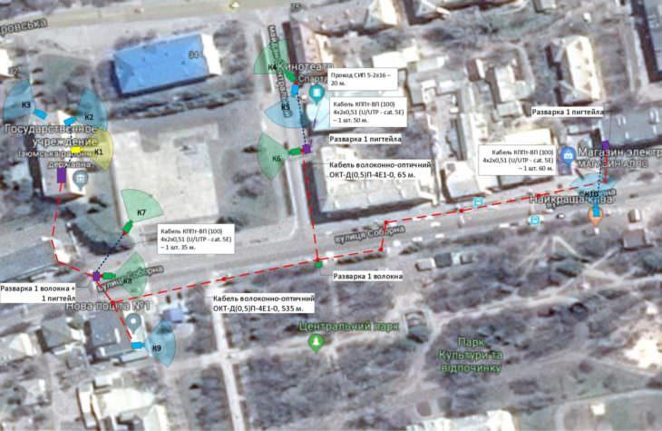 В городе Изюме установят видеокамеры наблюдения (карта)