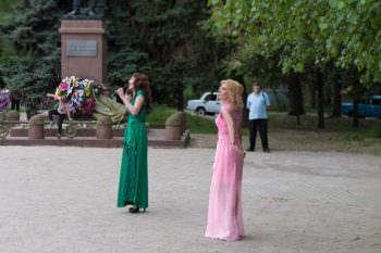 Праздничный концерт в городе Изюме на площади П.В. Волоха