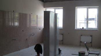 В Оскольскому психоневрологическом интернате ведутся строительные работы