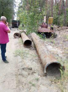 Из Букинского водопровода похитили трубы