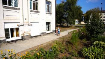 В Изюмской ЦГБ ремонтируют здания детской поликлиники, роддома и инфекционки