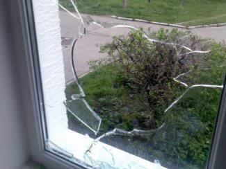 окно, разбили