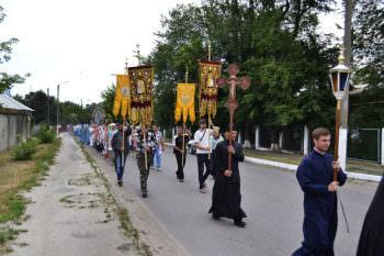 Крестный ход с Песчанской иконой Божией Матери