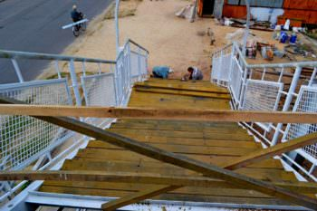 Ход работ капитального ремонта пешеходного моста на 16 сентября (фото)