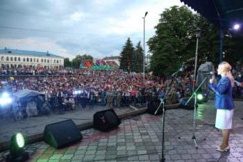 Юлия Светличная поздравила жителей Изюма с 337-летием города