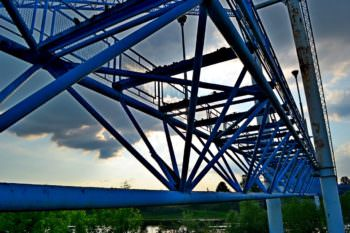 Пешеходный мост на начальной стадии капитального ремонта (фото)